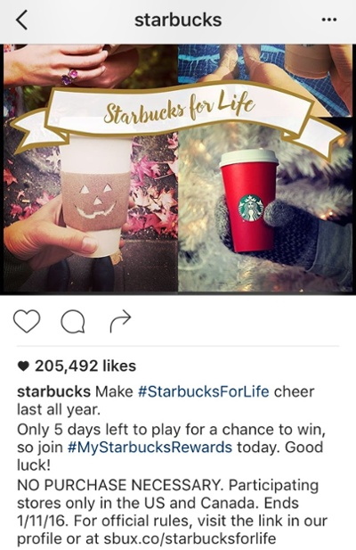 "starbucks-instagram-contest.jpg ""title ="" starbucks-instagram-contest.jpg ""width ="" 400 ""data-constrained ="" true ""style ="" width: 400px; ""srcset ="" https: //blog.hubspot. com / hs-fs / hubfs / starbucks-instagram-contest.jpg? t = 1539673814433 & width = 200 & name = starbucks-instagram-contest.jpg 200w, https://blog.hubspot.com/hs-fs/hubfs/starbucks-instagram -contest.jpg? t = 1539673814433 & width = 400 & name = starbucks-instagram-contest.jpg 400w, https://blog.hubspot.com/hs-fs/hubfs/starbucks-instagram-contest.jpg?t=1539673814433&width=600&name= starbucks-instagram-contest.jpg 600w, https://blog.hubspot.com/hs-fs/hubfs/starbucks-instagram-contest.jpg?t=1539673814433&width=800&name=starbucks-instagram-contest.jpg 800w, https: //blog.hubspot.com/hs-fs/hubfs/starbucks-instagram-contest.jpg?t=1539673814433&width=1000&name=starbucks-instagram-contest.jpg 1000w, https://blog.hubspot.com/hs-fs /hubfs/starbucks-instagram-contest.jpg?t=1539673814433&width=1200&name=starbucks-instagram-contest.jpg 1200w ""sizes ="" (larghezza massima: 400px) 100 vw, 400 px"