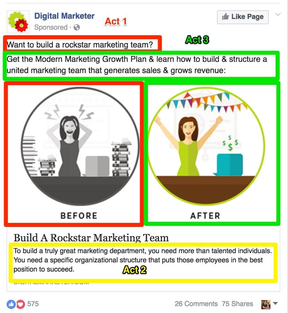 esempio di annuncio di storytelling mobile-first