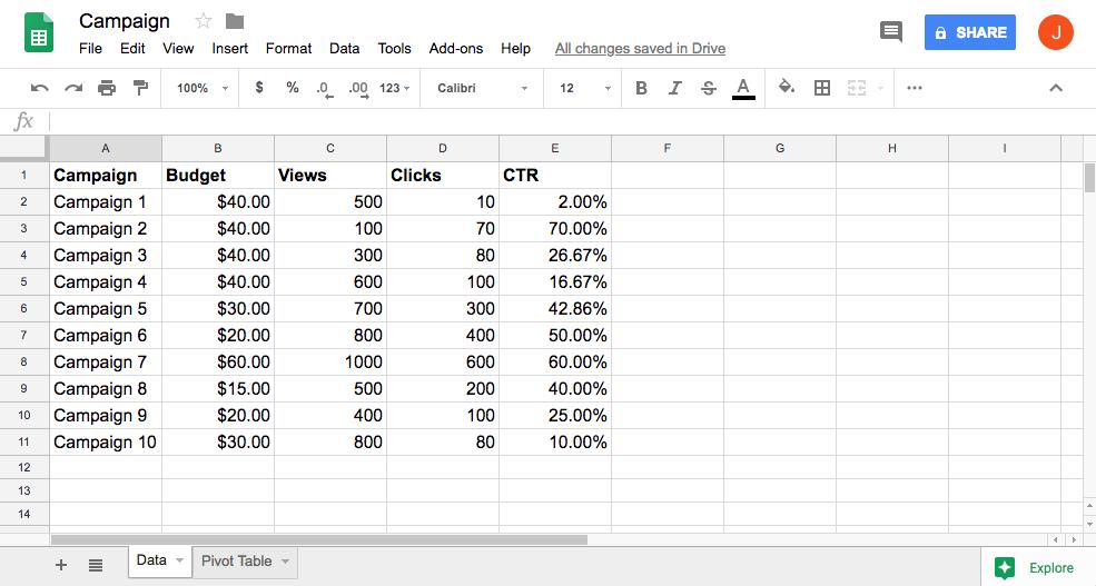 google-sheets pivot-table
