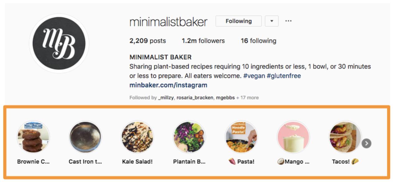 instagram minimalista del fornaio