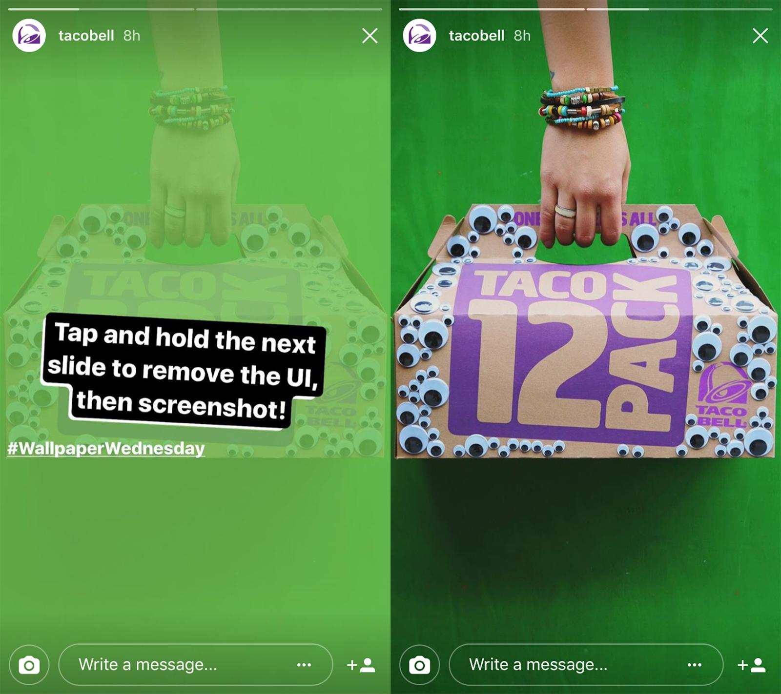 Taco Bell storia di instagram