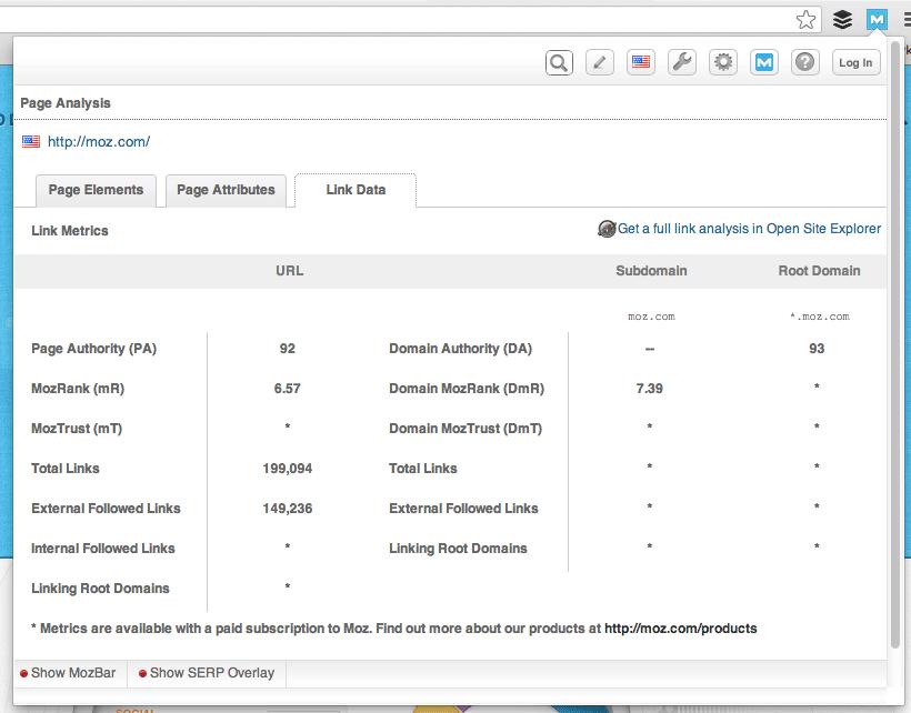 Moz.com Link Data
