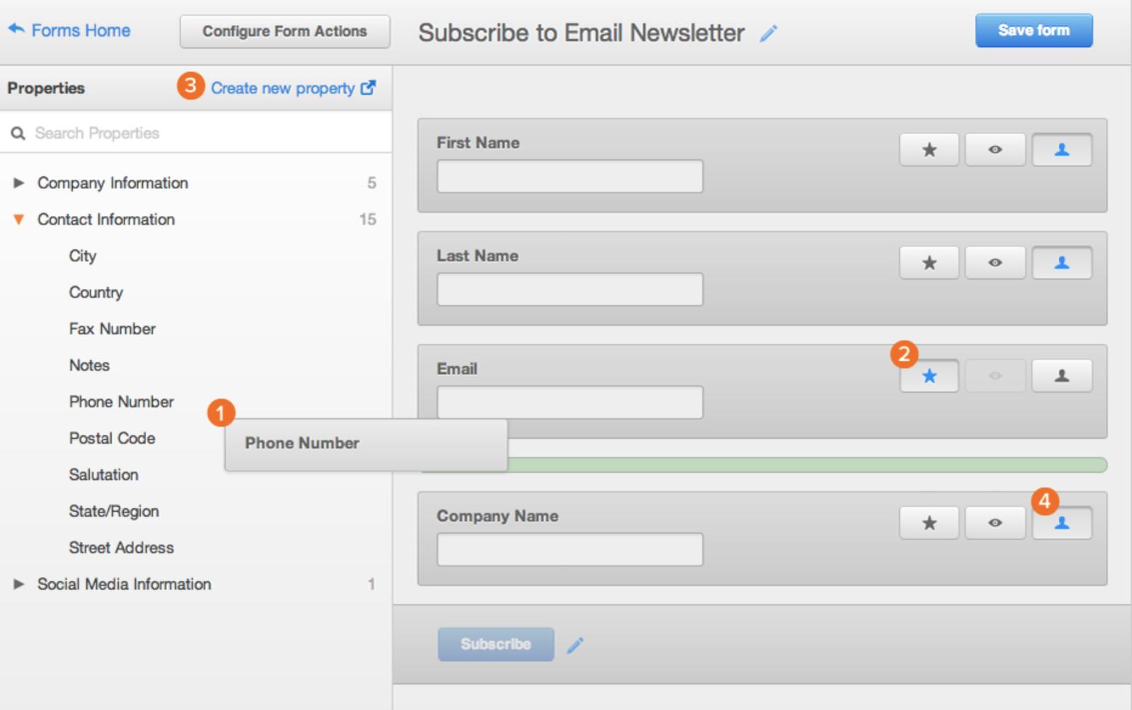 Hubspot-mail newsletter-web-form