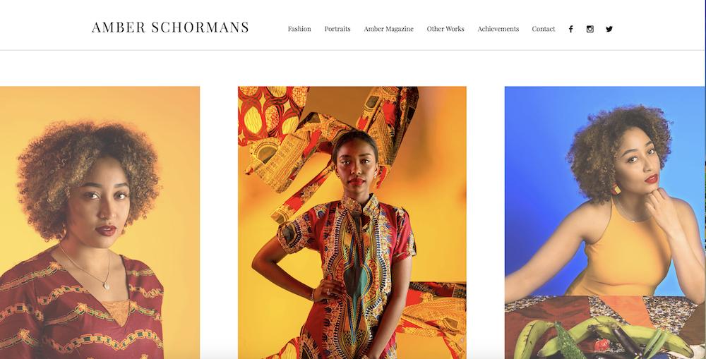 Sito web di Amber Schormans realizzato con Wix