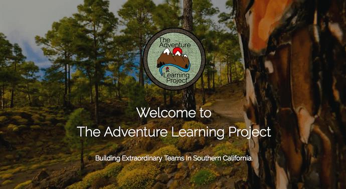 Sito realizzato da The Adventure Learning Project, realizzato con Strikingly