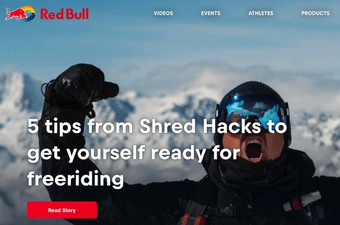 """Homepage del blog Red Bull con una campagna di marketing digitale incentrata sugli sport estremi """"srcset ="""" https://blog.hubspot.com/hs-fs/hubfs/red-bull-blog.png?t=1541047411391&width=345&name=red- bull-blog.png 345w, https://blog.hubspot.com/hs-fs/hubfs/red-bull-blog.png?t=1541047411391&width=690&name=red-bull-blog.png 690w, https: // blog.hubspot.com/hs-fs/hubfs/red-bull-blog.png?t=1541047411391&width=1035&name=red-bull-blog.png 1035w, https://blog.hubspot.com/hs-fs/hubfs /red-bull-blog.png?t=1541047411391&width=1380&name=red-bull-blog.png 1380w, https://blog.hubspot.com/hs-fs/hubfs/red-bull-blog.png?t= 1541047411391 & width = 1725 & name = red-bull-blog.png 1725w, https://blog.hubspot.com/hs-fs/hubfs/red-bull-blog.png?t=1541047411391&width=2070&name=red-bull-blog.png 2070w """"sizes ="""" (larghezza massima: 690 px) 100vw, 690 px"""