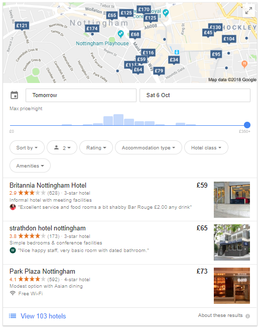 Alberghi in Nottingham risultati di ricerca