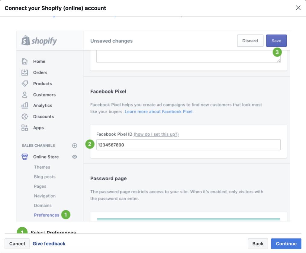 pixel facebook per shopify