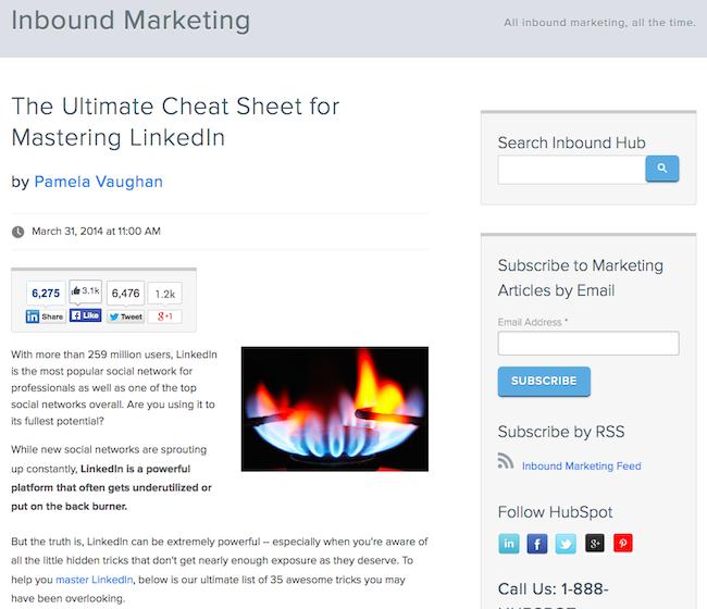 Esempio di HTML + CSS utilizzato per formattare un post del blog HubSpot
