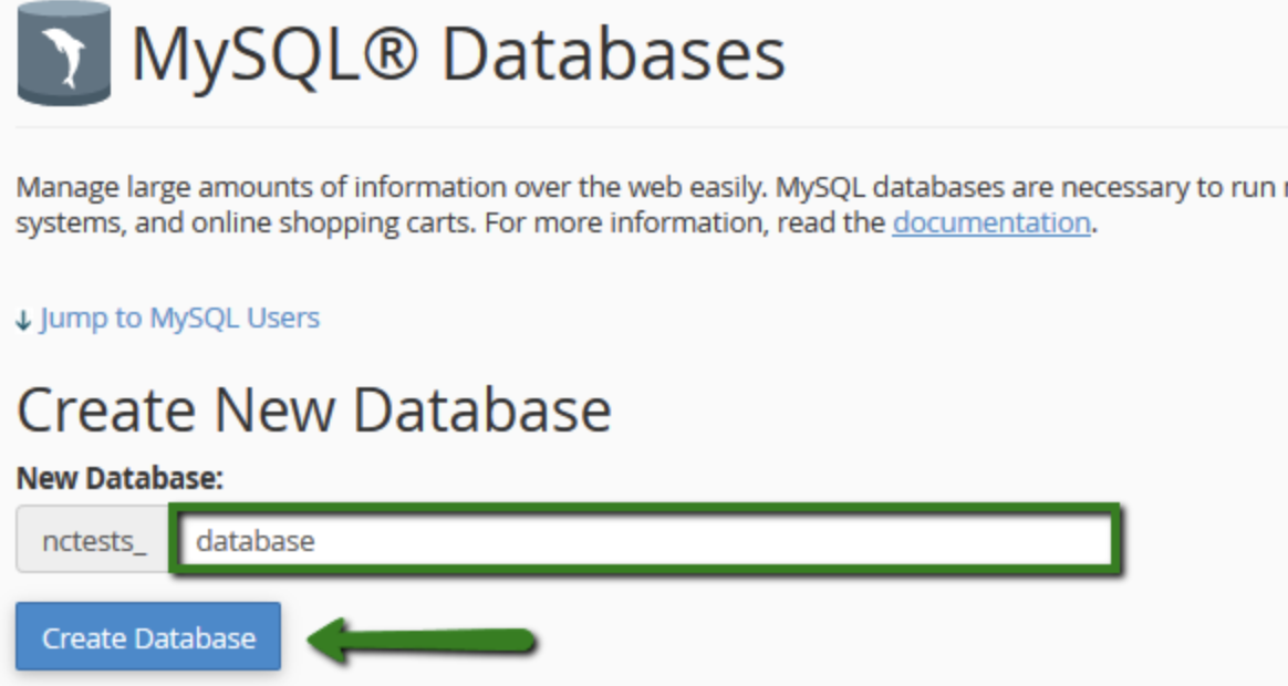 mysql-database wordpress