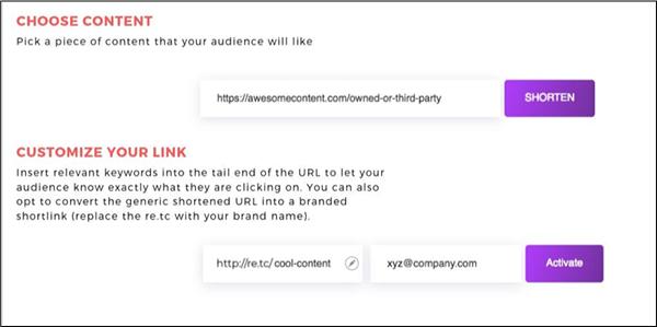 accorciando il tuo link con il link retargeting