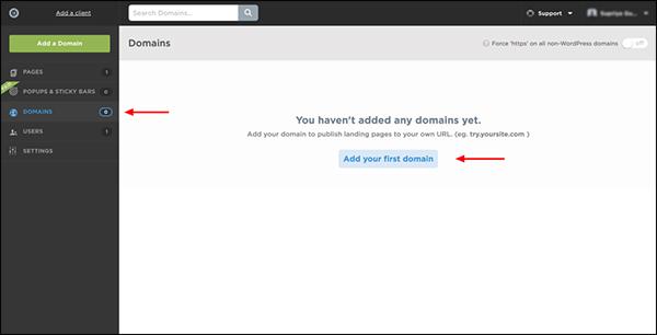 l'immagine mostra come aggiungere il tuo dominio