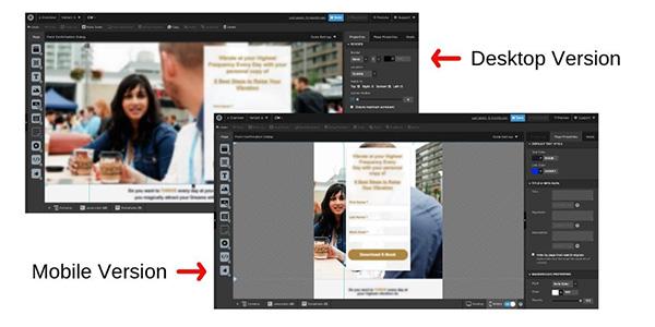 mostrandoti la differenza tra la versione web e quella mobile