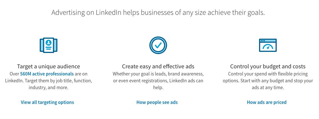 Campagne di LinkedIn