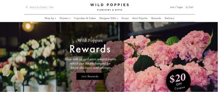 strategie di fidelizzazione dei clienti Wild Poppies Program Banner