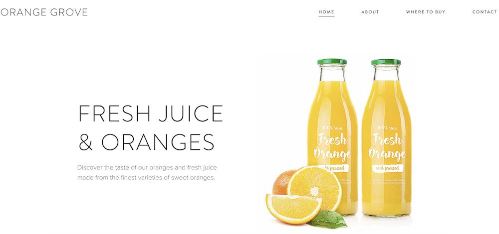 Sito Web realizzato da Orange Grove con WebNode