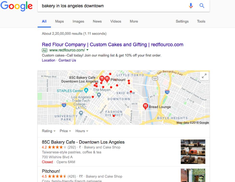 Bakery in LA Ricerca Google