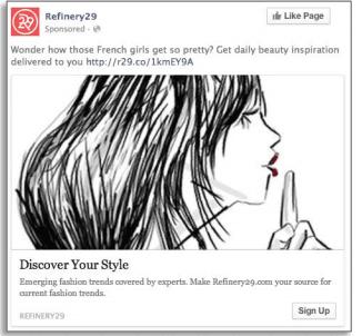Annuncio video di Facebook - sequenza annuncio B