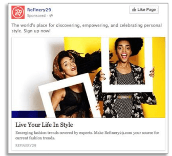 Annuncio video di Facebook - sequenza annuncio A