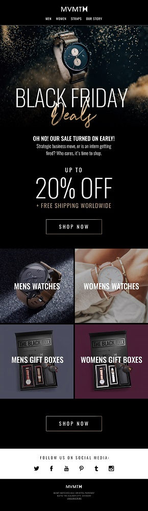 MVMT Black Friday Email Example
