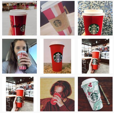 Esempio di contenuto generato dall'utente di Starbucks Holiday