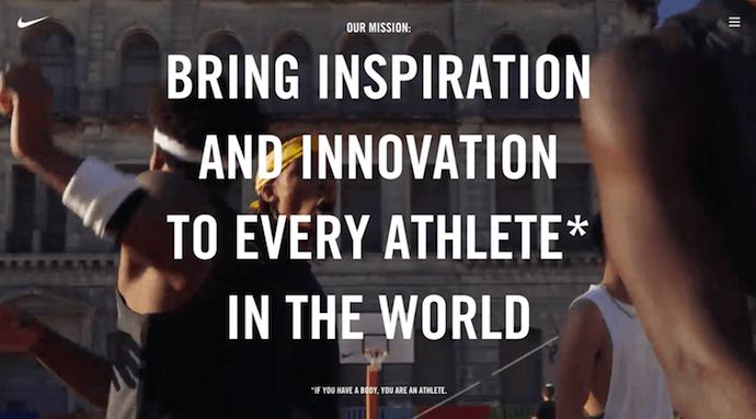 Nike su di noi pagina