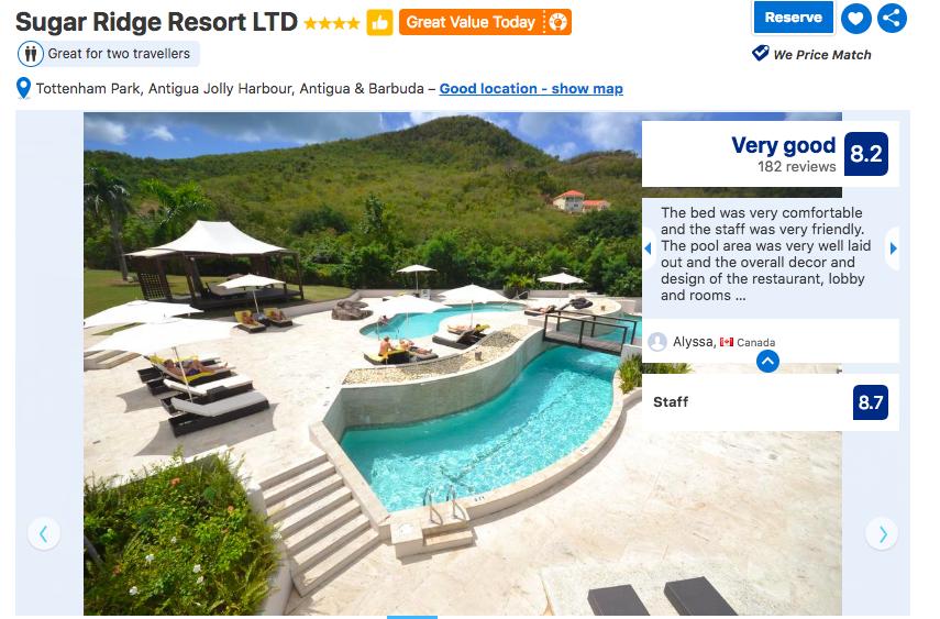 Immagine della prova sociale e valutazione sul sito web di viaggio