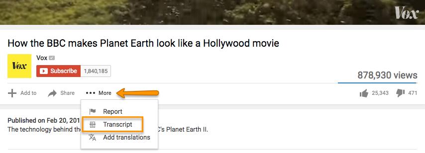"Più tag di YouTube per trovare la trascrizione del video. ""Width ="" 854 ""title ="" Più tag di YouTube per trovare la trascrizione del video. ""Caption ="" false ""data-constrained ="" true ""style ="" width: 854px; ""srcset = ""https://blog.hubspot.com/hs-fs/hubfs/youtube_moretab.png?t=1542772607057&width=427&name=youtube_moretab.png 427w, https://blog.hubspot.com/hs-fs/hubfs/youtube_moretab. png? t = 1542772607057 & width = 854 & name = youtube_moretab.png 854w, https://blog.hubspot.com/hs-fs/hubfs/youtube_moretab.png?t=1542772607057&width=1281&name=youtube_moretab.png 1281w, https: // blog. hubspot.com/hs-fs/hubfs/youtube_moretab.png?t=1542772607057&width=1708&name=youtube_moretab.png 1708w, https://blog.hubspot.com/hs-fs/hubfs/youtube_moretab.png?t=1542772607057&width=2135&name = youtube_moretab.png 2135w, https://blog.hubspot.com/hs-fs/hubfs/youtube_moretab.png?t=1542772607057&width=2562&name=youtube_moretab.png 2562w ""sizes ="" (larghezza massima: 854 px) 100vw, 854 px"