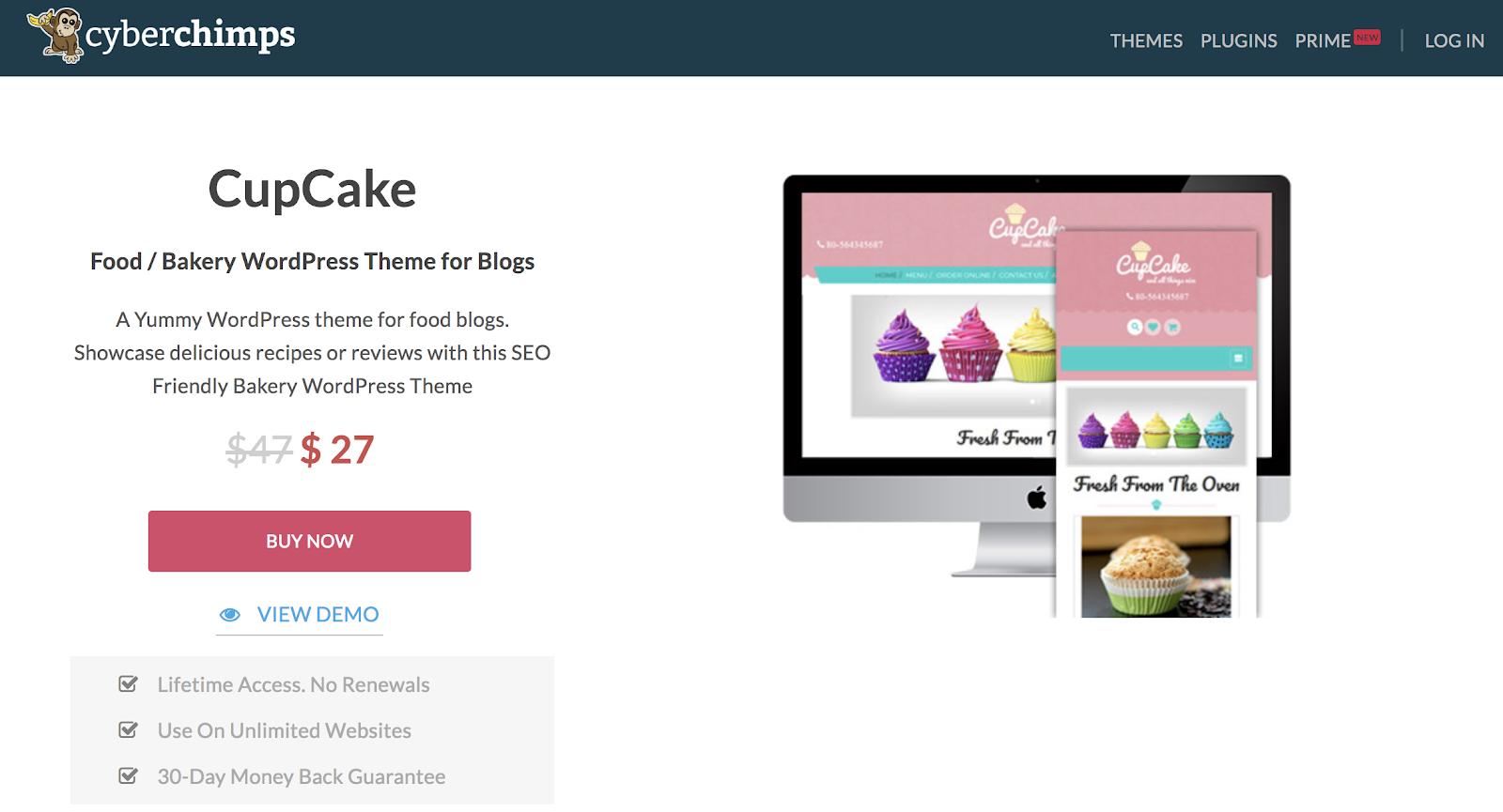 Cupcake-wordpress-tema
