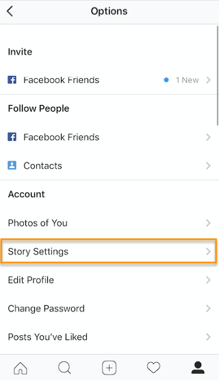 "Story Settings button on Instagram"" width=""320"" style=""width: 320px; blocco di visualizzazione; margin-left: auto; margin-right: auto;"" srcset=""https://blog.hubspot.com/hs-fs/hubfs/storysettings1-2.png?t=1543306004115&width=160&name=storysettings1-2.png 160w, https://blog.hubspot.com/hs-fs/hubfs/storysettings1-2.png?t=1543306004115&width=320&name=storysettings1-2.png 320w, https://blog.hubspot.com/hs-fs/hubfs/storysettings1-2.png?t=1543306004115&width=480&name=storysettings1-2.png 480w, https://blog.hubspot.com/hs-fs/hubfs/storysettings1-2.png?t=1543306004115&width=640&name=storysettings1-2.png 640w, https://blog.hubspot.com/hs-fs/hubfs/storysettings1-2.png?t=1543306004115&width=800&name=storysettings1-2.png 800w, https://blog.hubspot.com/hs-fs/hubfs/storysettings1-2.png?t=1543306004115&width=960&name=storysettings1-2.png 960w"" sizes=""(max-width: 320px) 100vw, 320px"