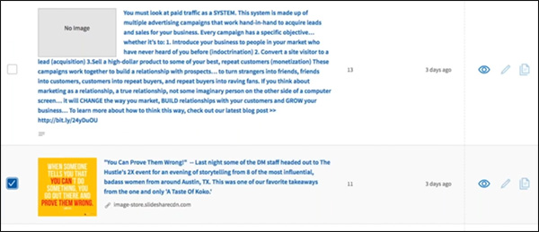 fai clic sulla casella di controllo per sponsorizzare il contenuto su LinkedIn che desideri potenziare