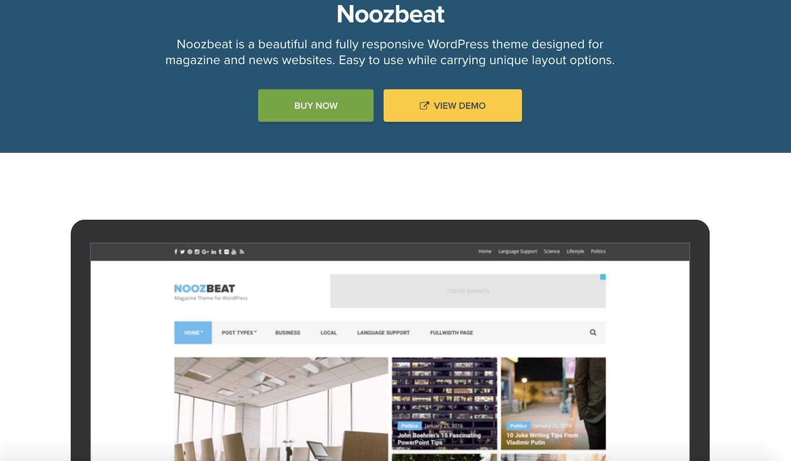noozbeat-wordpress-tema