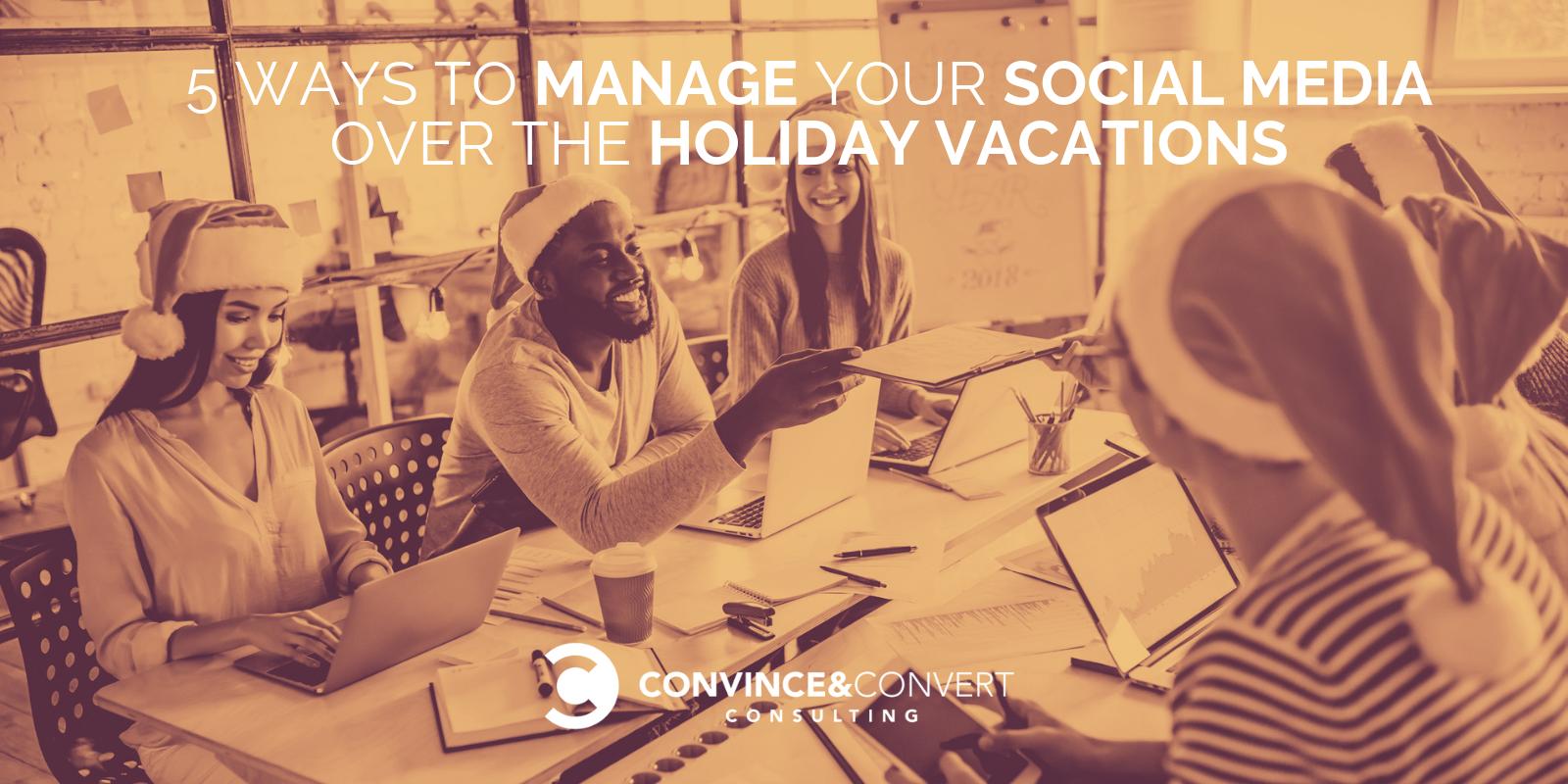 come gestire i social media durante le vacanze