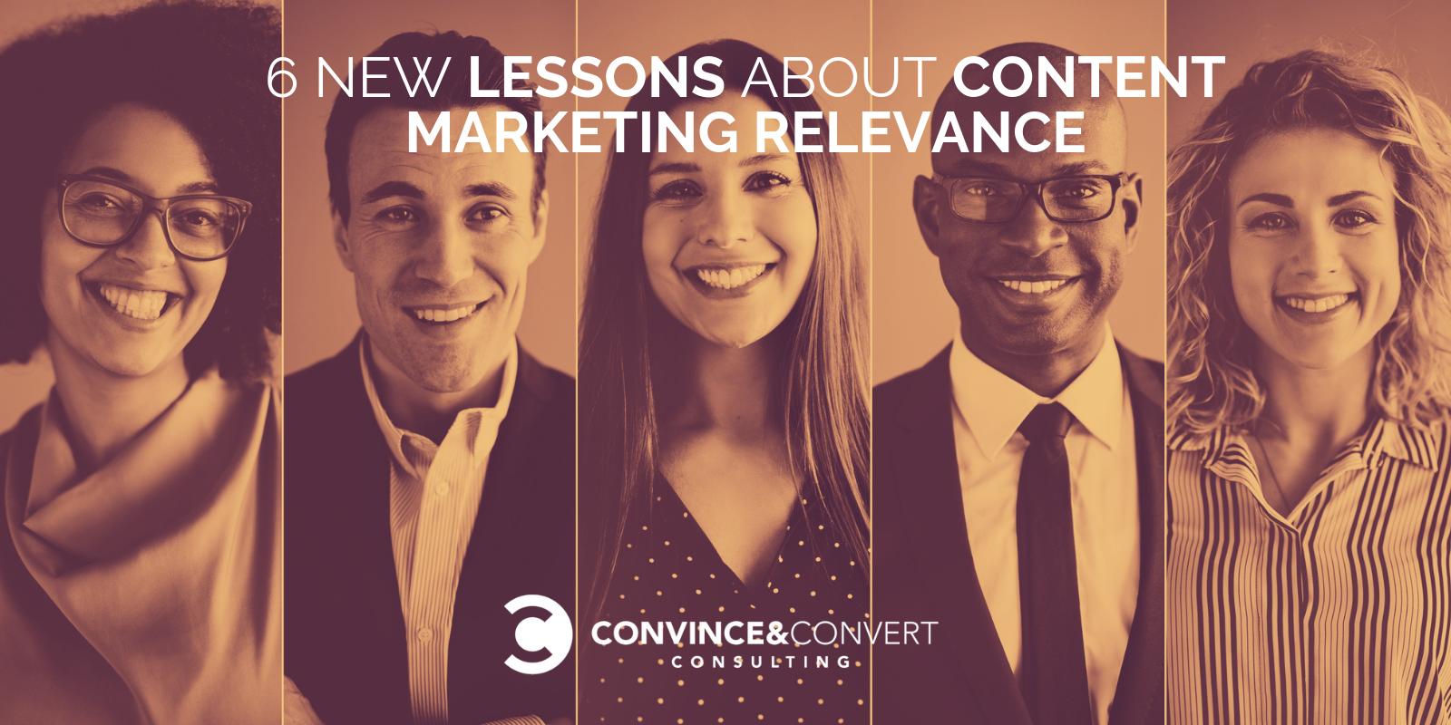 lezioni di rilevanza del marketing dei contenuti
