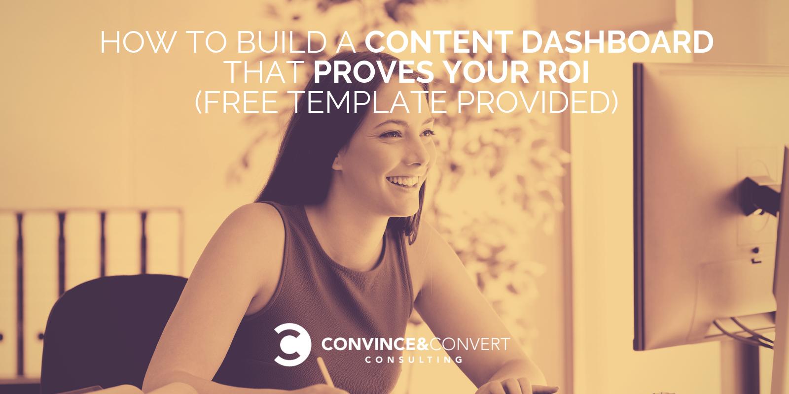 come creare il modello di dashboard del contenuto
