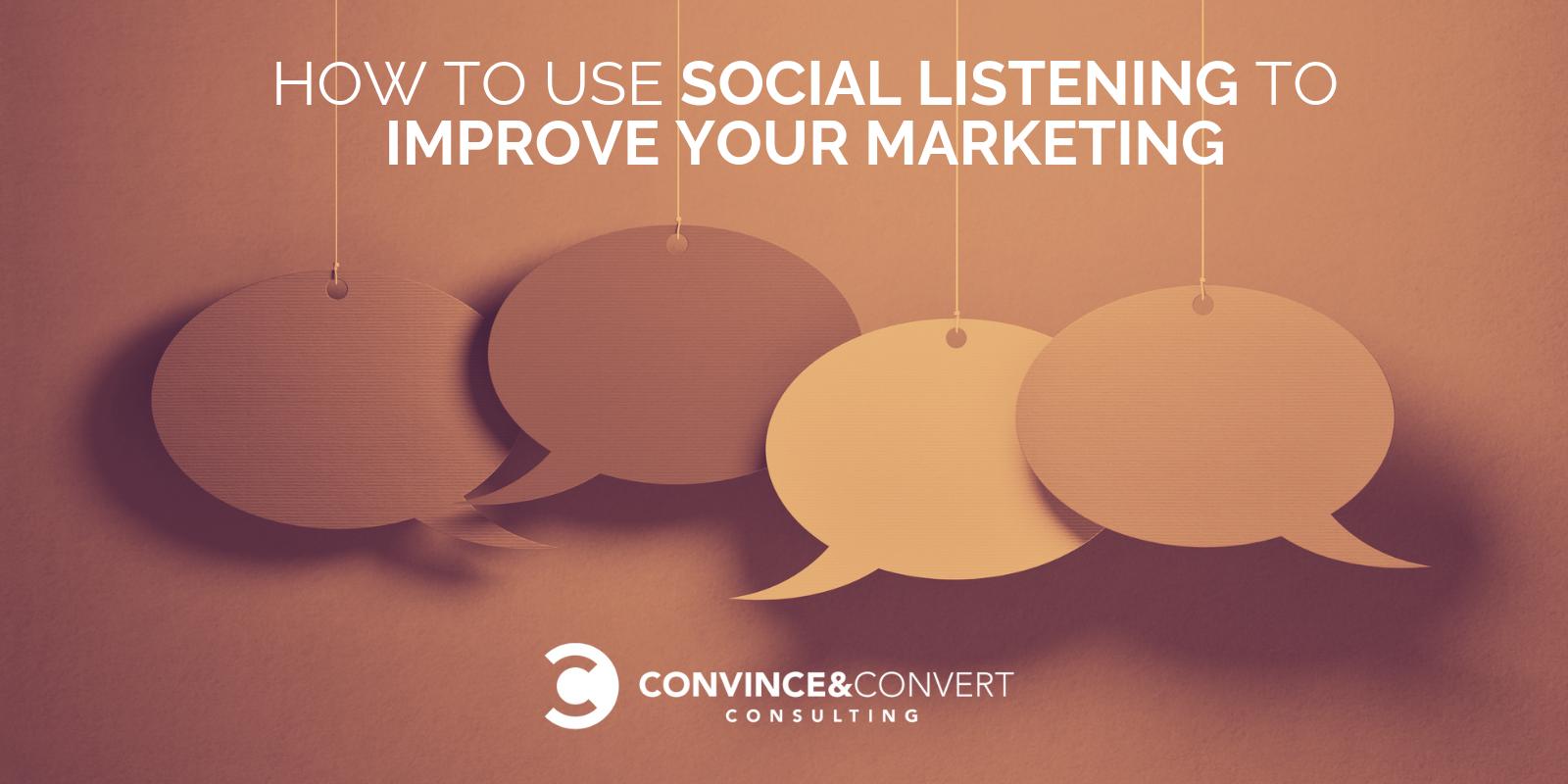 come usare l'ascolto sociale per migliorare il tuo marketing
