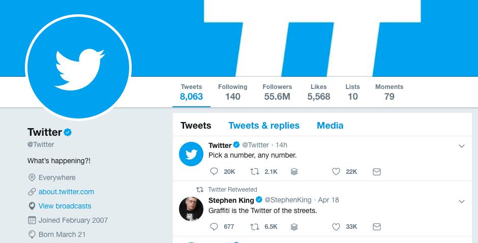 Profilo Twitter di Twitter