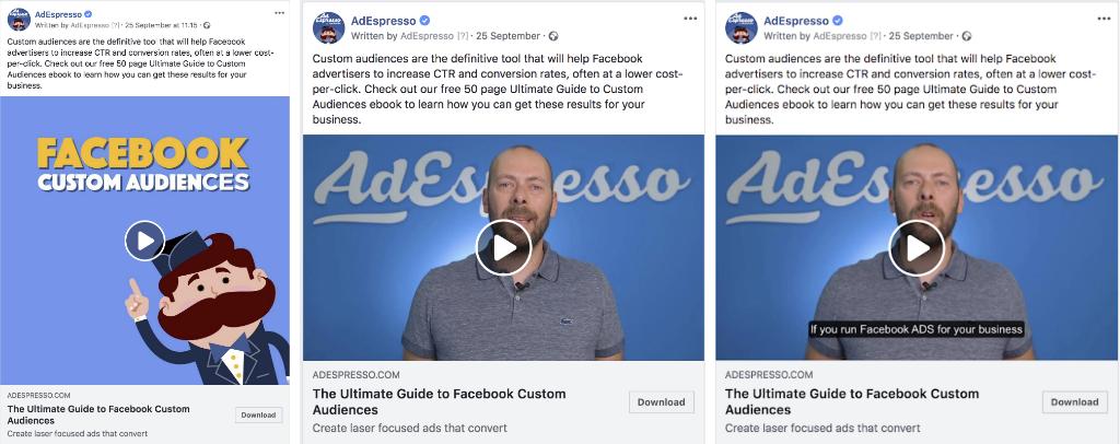 I migliori esempi di esperimenti con formati di annunci video di Facebook
