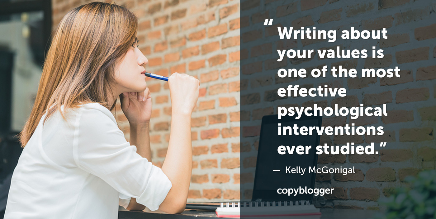 Scrivere dei propri valori è uno degli interventi psicologici più efficaci mai studiati. Kelly McGonigal