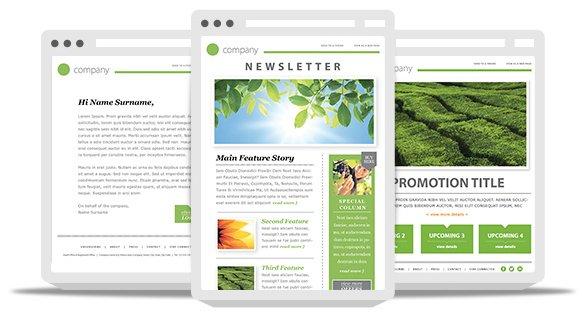 """99Designs modello di newsletter via email mostrato con design reattivo su più dispositivi """"data-constrained ="""" true """"style ="""" width: 582px;"""