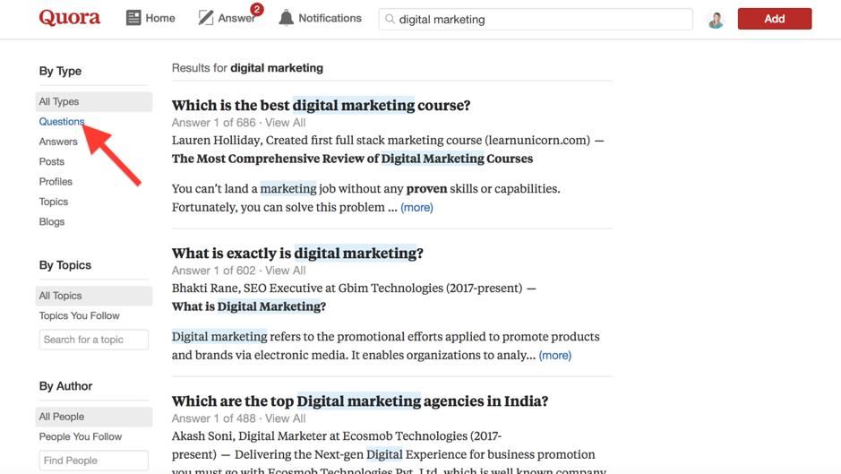 Rispondere alle domande su Quora