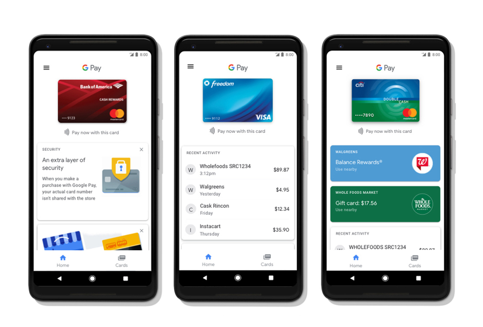 Google Pay design