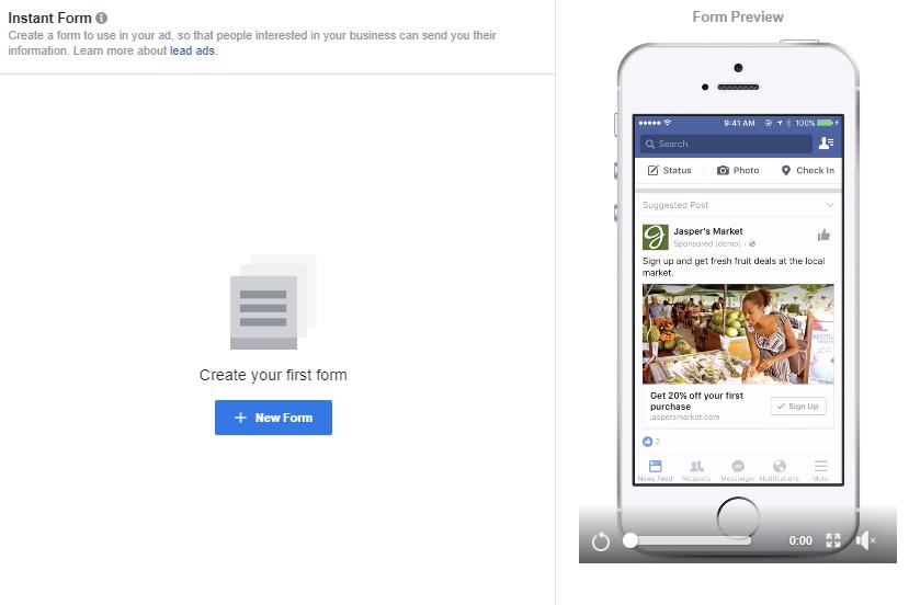Generazione di piombo di Facebook