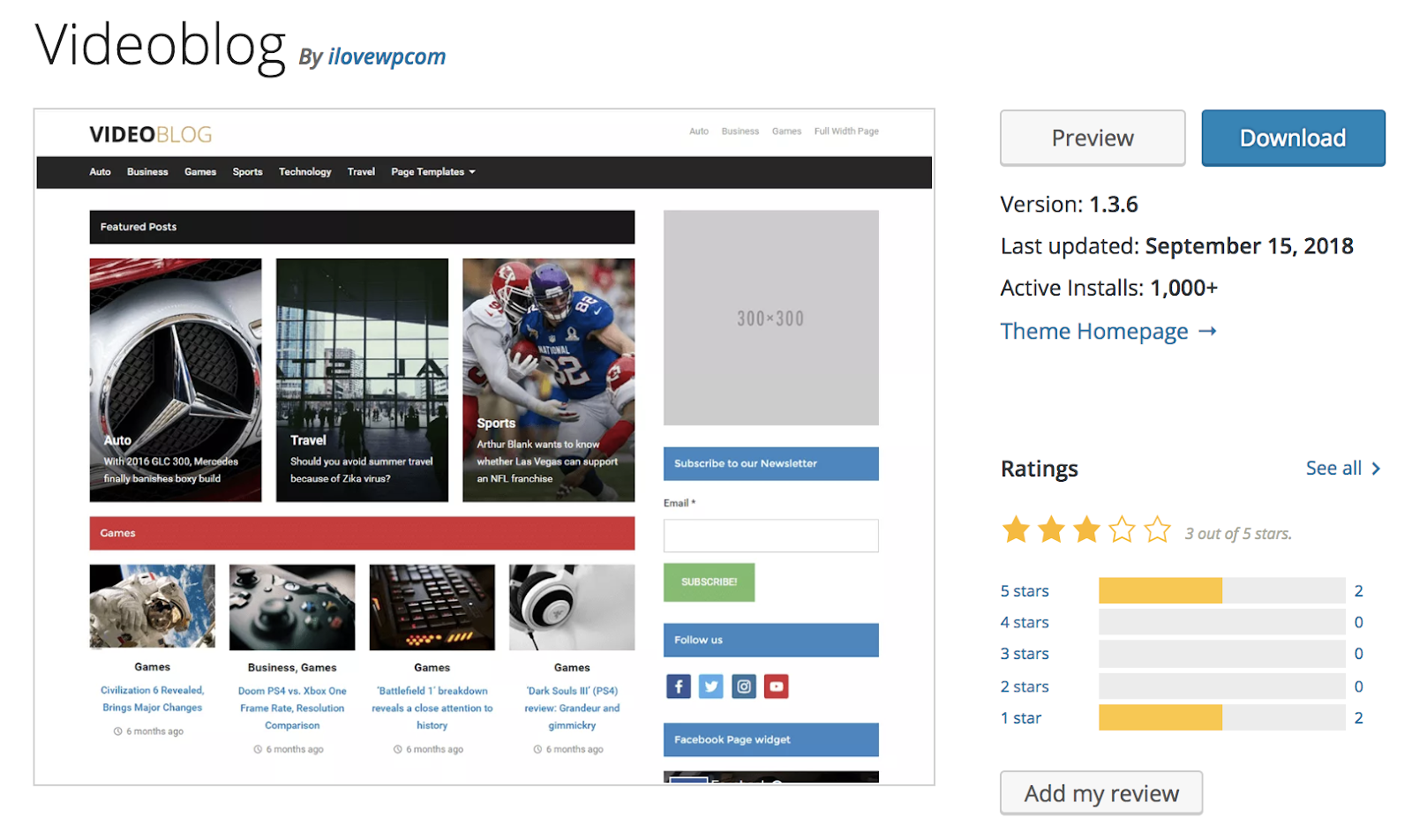 videoblog-wordpress-tema
