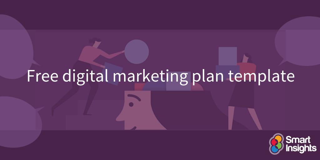 Modello di piano di marketing digitale gratuito