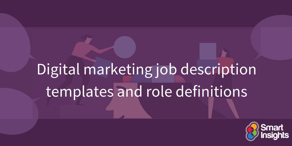 Modelli di descrizione del lavoro di marketing digitale e definizioni di ruolo