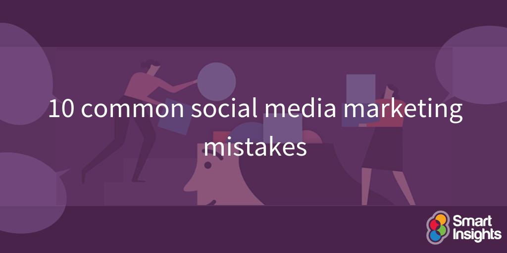 10 errori comuni di marketing sui social media