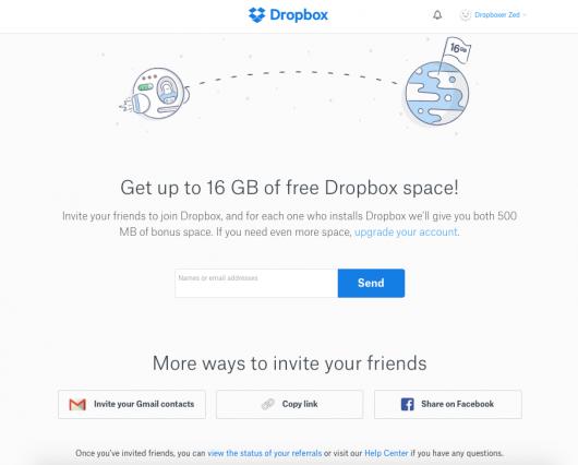 effetto di rete dropbox