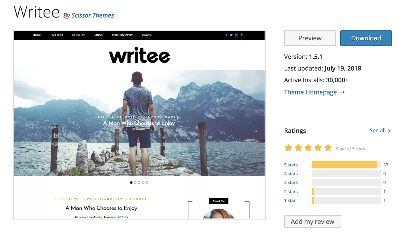 writee-wordpress-tema