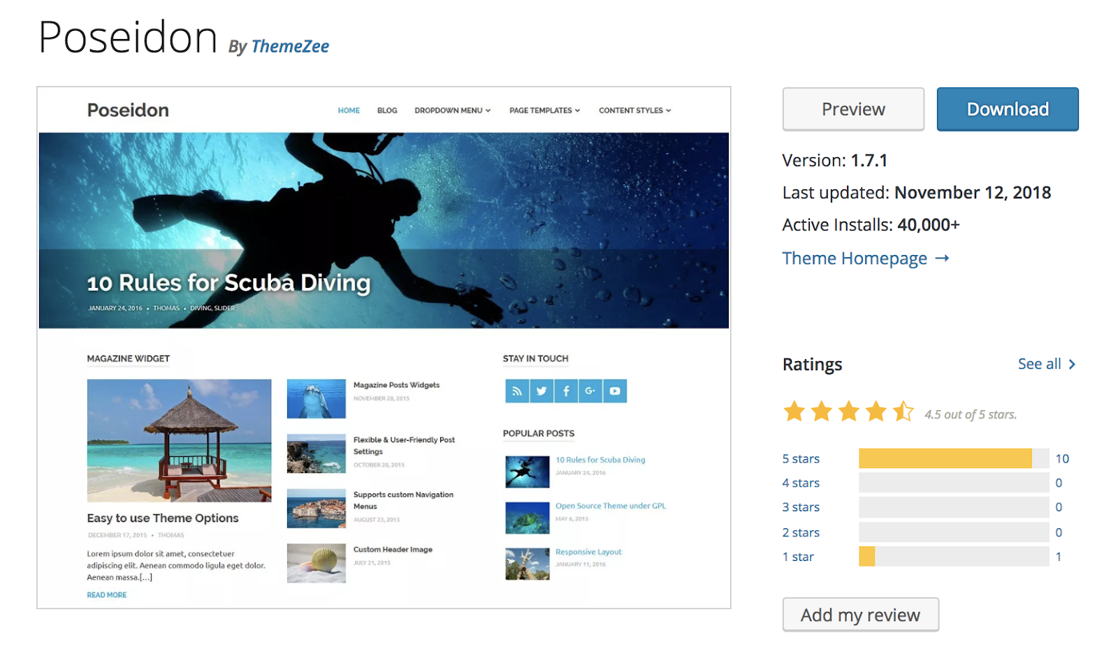 poseidon-wordpress-tema